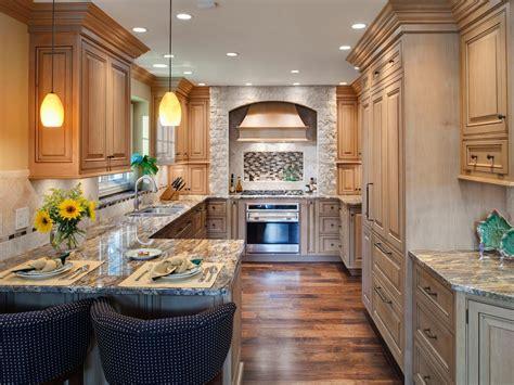 narrow kitchen designs kitchen layout templates 6 different designs hgtv 1037