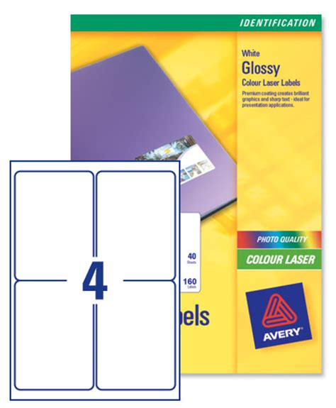avery l7769 colour laser labels 139x99 1mm 4 per page ref
