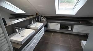 marvelous exemple de salle de bains sous comble 4 With exemple de salle de bains sous comble