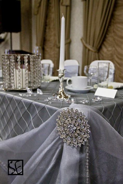 A stunning addition to the pintuck silver tablecloths