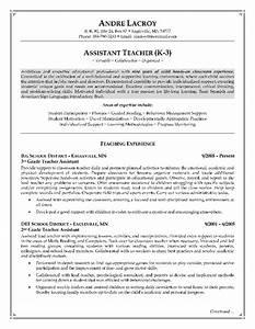 Teacher Assistant Resume Job Description Resume Cover