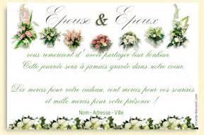 remerciements invitation mariage carte de remerciement a imprimer pour un mariage sur carte discount