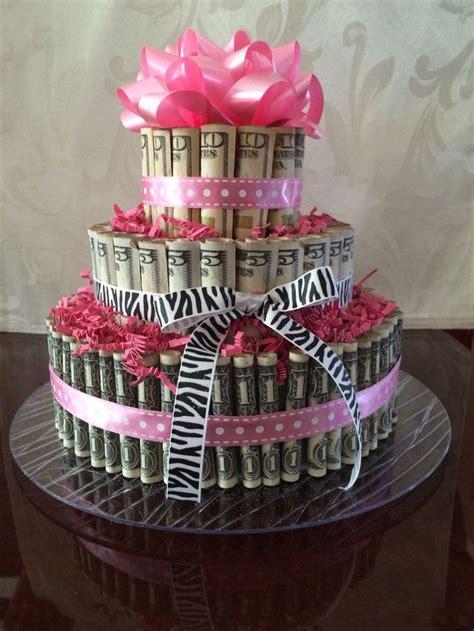 pin  tashika keown  diy money birthday cake
