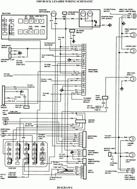 1998 Buick Riviera Fuse Box Diagram by 2000 Buick Lesabre Fuse Box Wiring Diagrams Diagram 1998