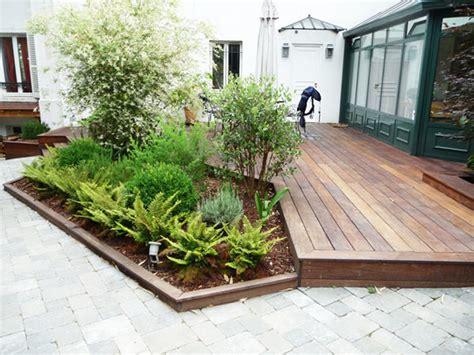 nivrem com amenagement terrasse bois jardin diverses