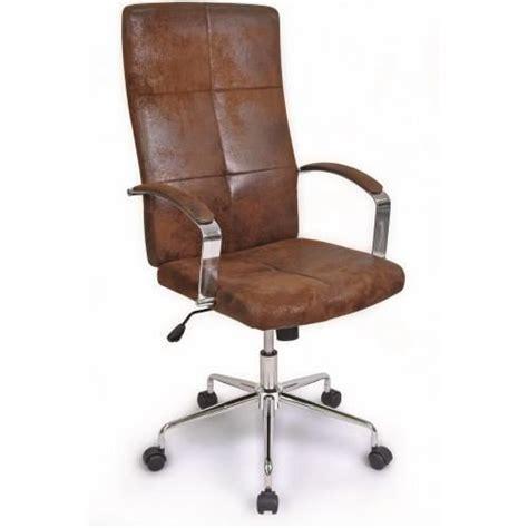 chaise de bureau marron fauteuil ministre newvers marron vintage achat vente