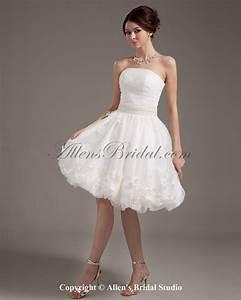 allens bridal yarn strapless short ball gown wedding With short ball gown wedding dresses