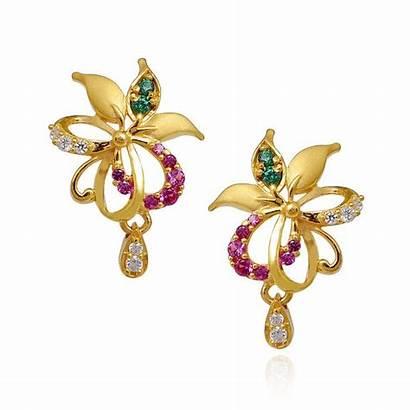 Earrings Jewellery Gold Stone Designs Tanishq Earring