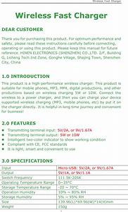 Ce Link Wpc102tj01 Wireless Fast Charger User Manual