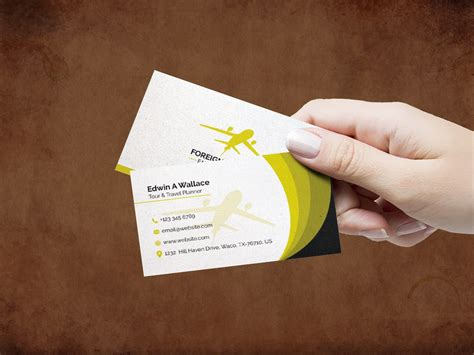 travel agency business card design template  images