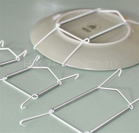 plate wire hanging white hanger flexible  spring wall display art decoration ebay