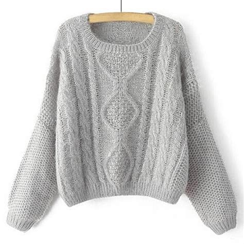 sweater womens stylish s neck cable knit sleeve sweater