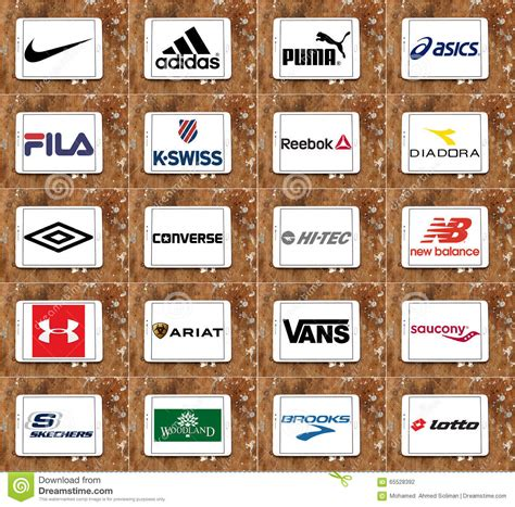 Top Famous Sportswear Companies Brands And Logos Editorial