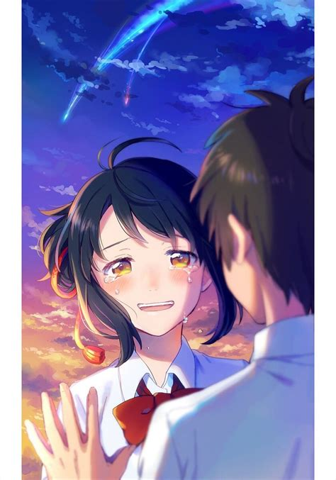 Anime Couple Terpisah Kimi No Nawa Kimi No Nawa Kimi No Nawa Pinterest Kimi No Na Wa
