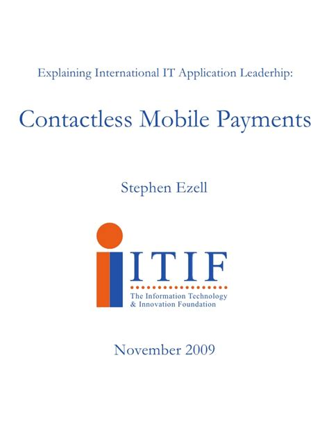 Contactless Mobile Payment by Contactless Mobile Payments