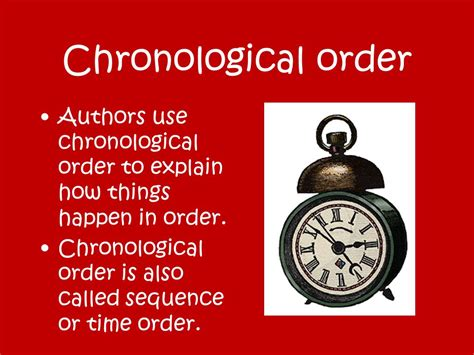 What Is Chronological Order by Chronological Text Structure Ppt