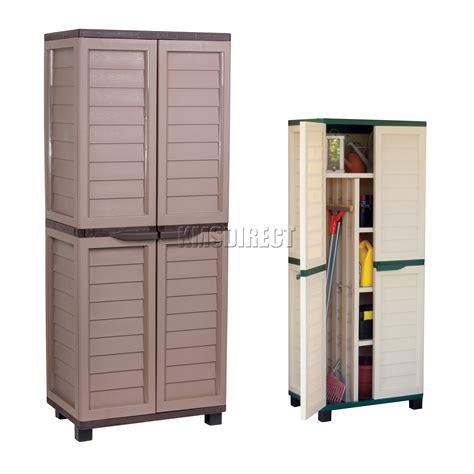 plastic shelf for kitchen cabinets starplast outdoor plastic garden utility cabinet with 9141