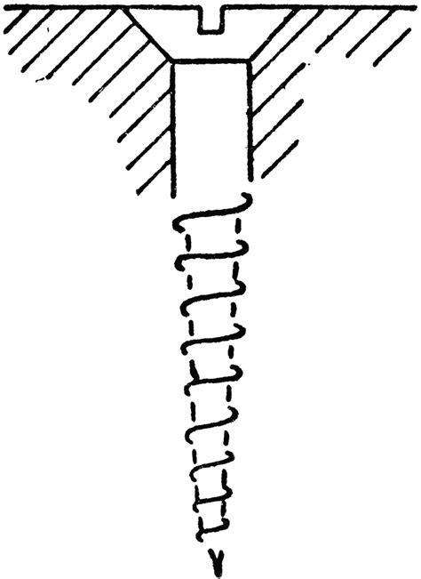 wood screw countersunk clipart