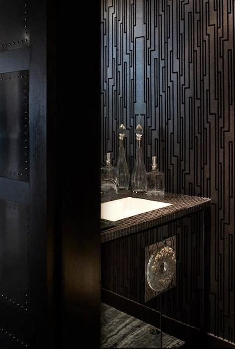 bathroom silver geometric wallpaper pictures decorations