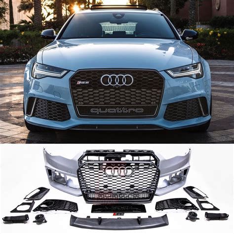 Audi S6 Front by Bkm Front Bumper Kit With Front Grille Rs Style Carbon