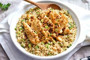 garlic lime chicken tenders and quinoa recipe eatwell101