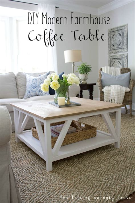 square farmhouse coffee table how to build a diy modern farmhouse coffee table classic
