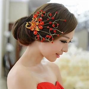The Bride Wedding Hair Accessory Formal Dress Red Hair
