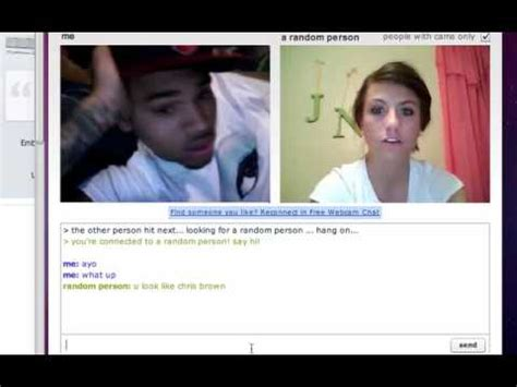 Chris Brown On Chatroulette (victim #1) Youtube