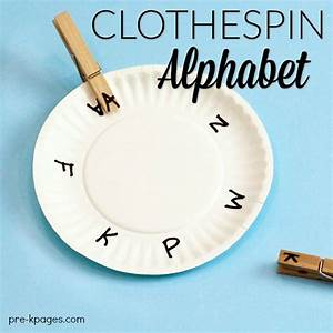 fine motor clothespin activities for preschool pre k pages With clothespin letters