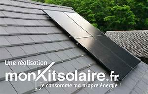 Kit Panneau Solaire Autoconsommation : kit de fixation pour 2 panneaux solaires toiture ardoise ~ Premium-room.com Idées de Décoration