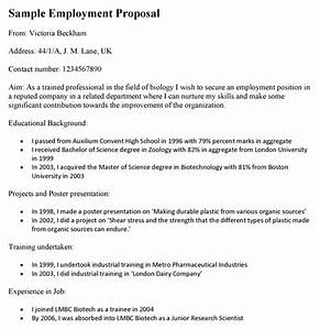 Employment proposal template for Hiring proposal template
