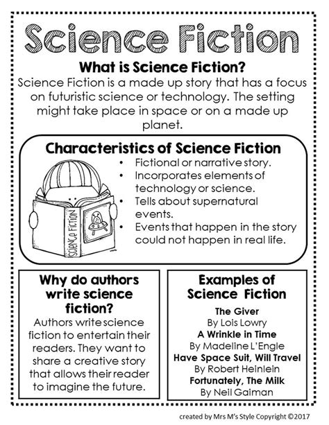 Characteristics of Science Fiction - Teach 21 Too