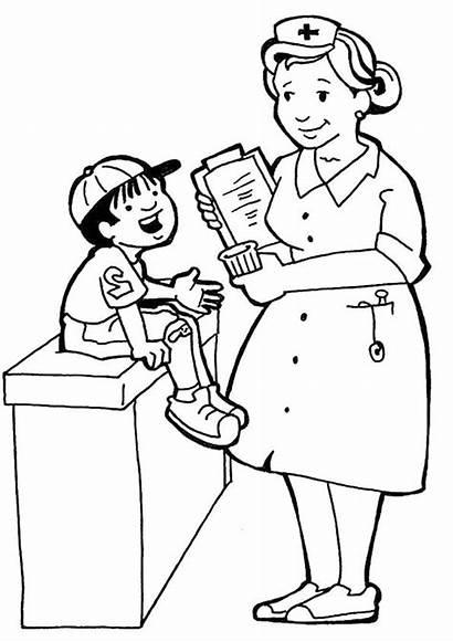 Coloring Helpers Community Nurse Coloring4free Preschool Sheets