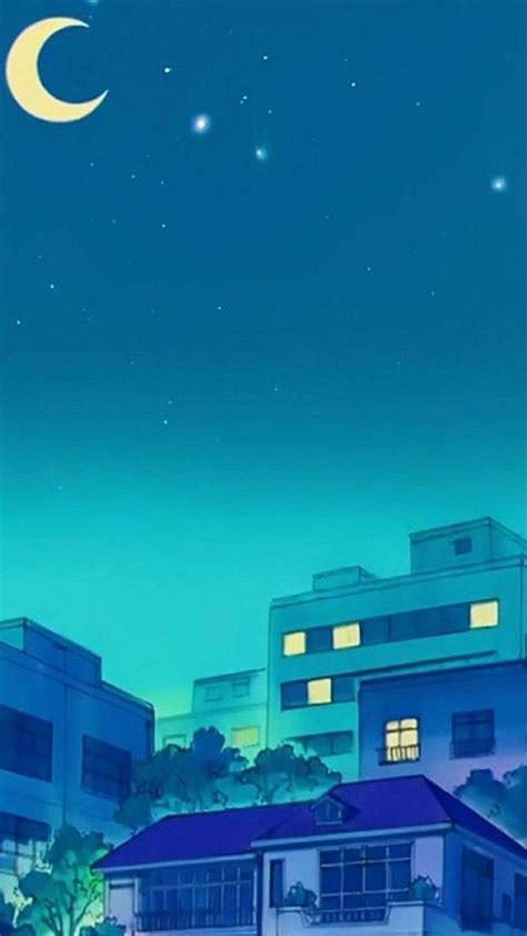 anime blue aesthetics wallpapers