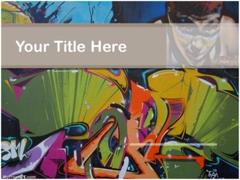 graffiti powerpoint templates myfreepptcom