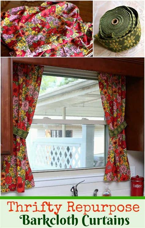 vintage barkcloth curtains    petticoat