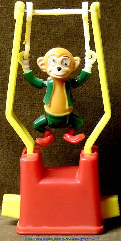 monkey tricky trapeze push button novelty puppet toy tpnc