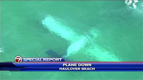 update plane crashes into water miami coast breaking911
