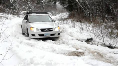 subaru snow white subaru legacy on snow youtube
