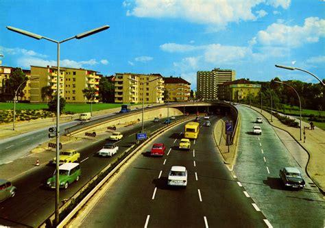 berlin autobahn postcard early sixties flashbak