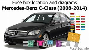 Fuse Box Location And Diagrams  Mercedes-benz C-class  2008-2014