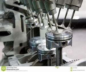 Engine Pistons Stock Image  Image Of Crank  Automotive