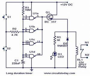 Long Duration Timer Circuit