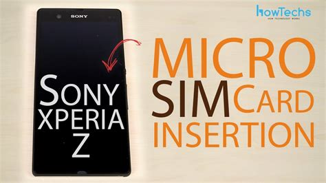 sony xperia  micro sim card insertion youtube