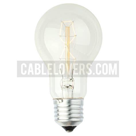 decorative rustic glow filament light bulb cablelovers