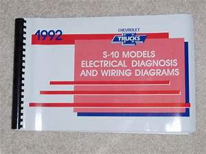 1992 Service Manual Electrical Diagnosis Wiring Diagram