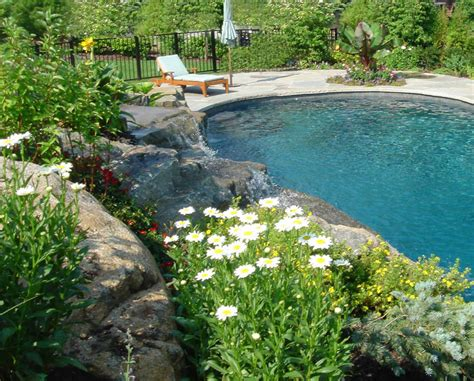 landscaping pools swimming pool landscaping ideas inground pools nj design pictures