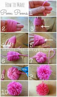 how to make pom poms from yarn adventures of a diy mom