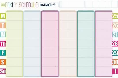 Weekly Calendar Printable Template Blank Schedule Planner
