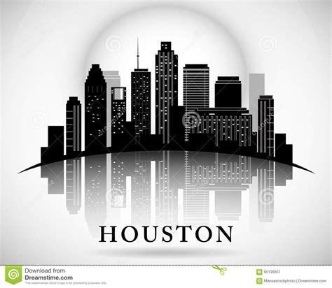 graphic design houston houston skyline city silhouette stock vector